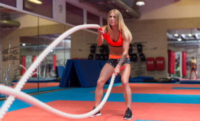 vetverbranden met battle ropes