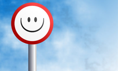 Happy life checklist smiley verkeersbord
